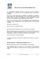 Séance du 03 Septembre 2012