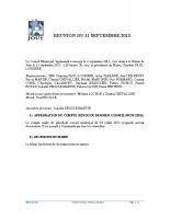 Séance du 11 Septembre 2013