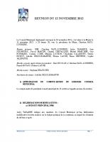 Séance du 12 Novembre 2012